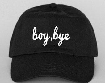 boy, bye formation Strap Back Hat