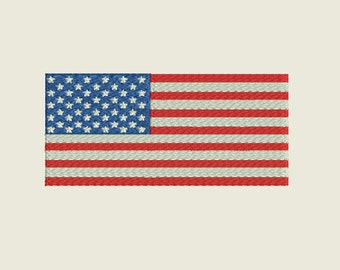 """United States Flag Embroidery file in 4 sizes (3"""", 4"""", 5"""" & 6"""") and multiple file formats - INSTANT DOWNLOAD - Item #5007"""
