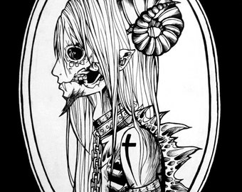 Ink Demon ART PRINT