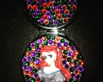 Stunning disney princess figure & gem compact mirror