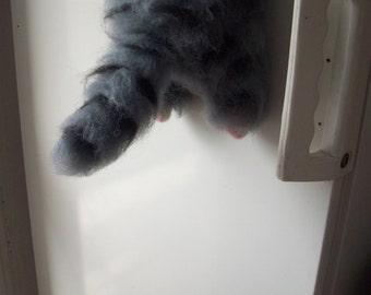 cat magnet,pinched cat,felt cat magnet, funny gift