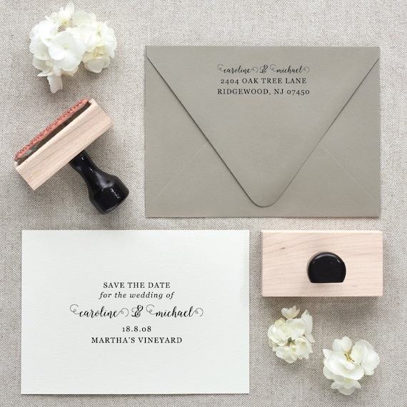 Save The Date Stamp Return Address Stamp By Fairmontandgrove