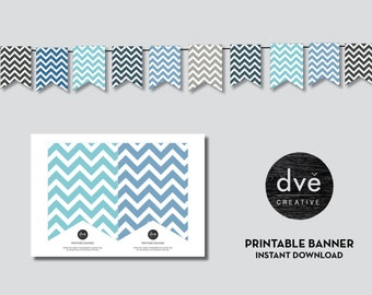 Banner - Party Decorations - Customize - Instant Download