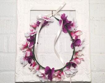 Shades Of Purple Wildflower Crown