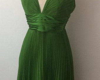 Laundry brand Halter dress chartreuse Marilyn Monroe 7 Year Itch style dress