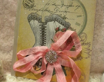 Altered Journal Vintage French Corset
