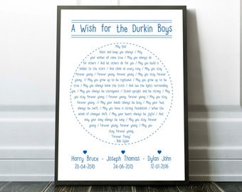 Bob Dylan Forever Young Personalised Print