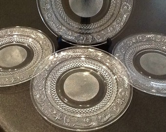 Depression Glass Sandwich Kig Malaysia Plates   4 Dinner   4 Salad Plates   Kig malaysia   Etsy. Dining Plate Set Malaysia. Home Design Ideas