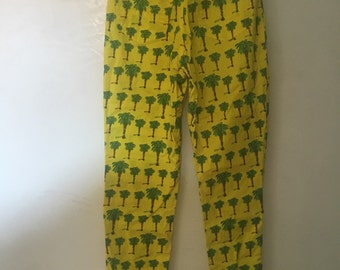 Vintage Versace pants print palm