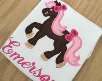 Pretty pony ruffle shirt