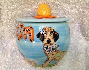 Hand-Painted Treat Jar