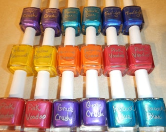 Nail polish, Toxin-Free, coloured naturally with mica & cosmetic safe glitter, handcrafted in Victoria, B.C. Canada