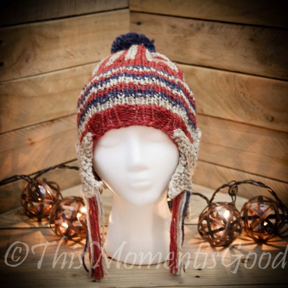 Loom Knit Earflap Hat PATTERN. Shooting Star by ThisMomentisGood