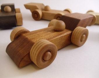 Little Hardwood Indy Car - Indy style race car - wood race car - wood toy - wood car - handmade - natural