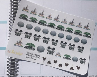 Disney Parks Inspired Icon Planner Stickers by Ella Couture by Jessica