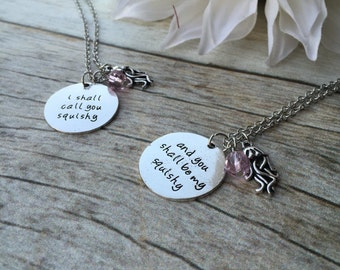 SALE!! Two Nemo inspired Hand Stamped Friendship Necklaces. Christmas gift. Birthday gift. Friendship. Finding Nemo. Disney. Best friends.