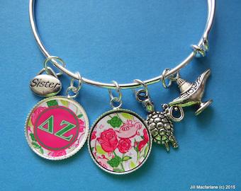 Delta Zeta Charm Lilly Bracelet, Big, Lil, Lilly Inspired