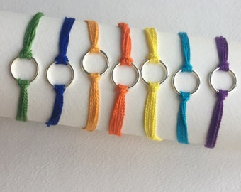 Colorful simple friendship bracelets