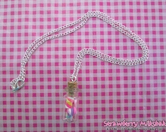 Necklace *Marshmallow Bottle*