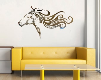 Horse Face Decal Vinyl Wall Decal, Home Decor