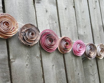 Flower garland- Wedding garland- Party garland- Bridal Shower garland- Baby Shower garland
