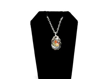 canada necklace, maple leaf necklace, light necklace
