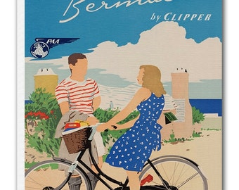 Bermuda Print Art Canvas Travel Poster Hanging Wall Decor xr917