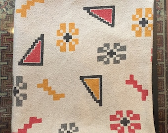 Vintage Native American tapestry/blanket with geometric shapes