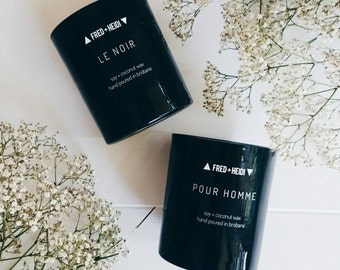 Le Noir - black wax, soy & coconut wax blend candle - for her