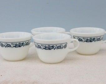 Set of Four Vintage Pyrex Cups