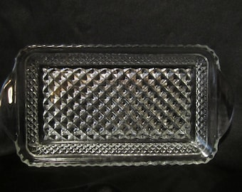 Vintage  glass serving tray