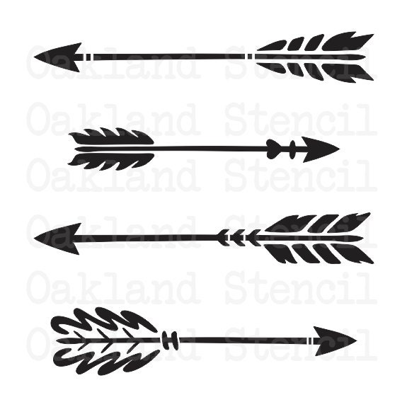 arrow stencil 4 different for painting signs wood. Black Bedroom Furniture Sets. Home Design Ideas