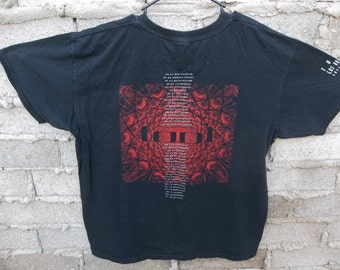 Tool Shirt sz XL Distressed Faded Black Concert Adult Unisex Clothing T Shirt Tee Fan Alternative Rock Band Music Los Angeles