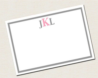 Monogram Cards / Personalized Monogram Stationary / Monogram Stationary / Custom Stationary / Flat Note Cards