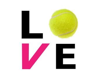 LOVE Tennis Car Decal 5 x 5