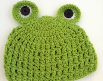 Froggie Crochet Kids Hat