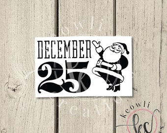 December 25 Vinyl Decal