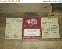 ON SALE NOW Vintage Paper Advertising Reliance Life Insurance Company Davidson Michigan