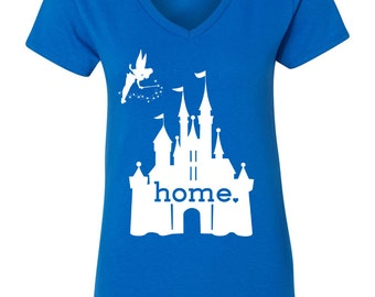 Disney Is My Home, Ladies T-Shirt, Royal Blue
