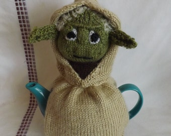 Knit Yoda Teapot Cozy - Knit Teapot Cosy - Knitted Tea Cosy - Knit Teapot Cover
