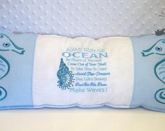 Advice from the ocean cushion.
