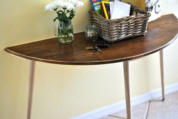 Half moon entryway table console table sofa table - Half table entryway ...
