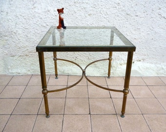 Hollywood Regency Table, Brass And Glass Table, Side Table, Occasional Table, Coffee Table, Hollywood Regency Furniture, Mid Century Table