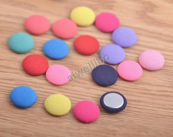 Mixed Color Fabric Button , Diy Hair Accessories Decoration Scrapbook