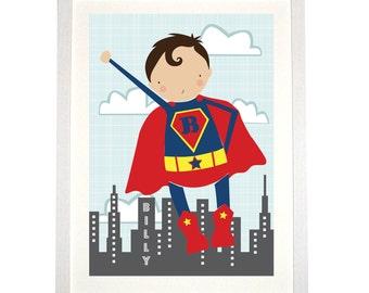 Personalised Super Hero Print