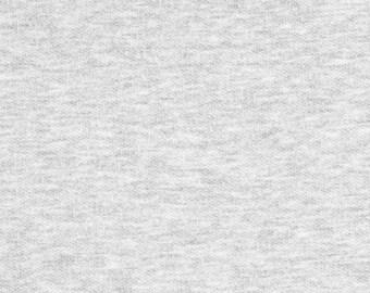 Light Heather Gray Sweatshirt Fleece Fabric - by the yard