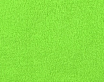 Lime Green Fleece Fabric - by the yard