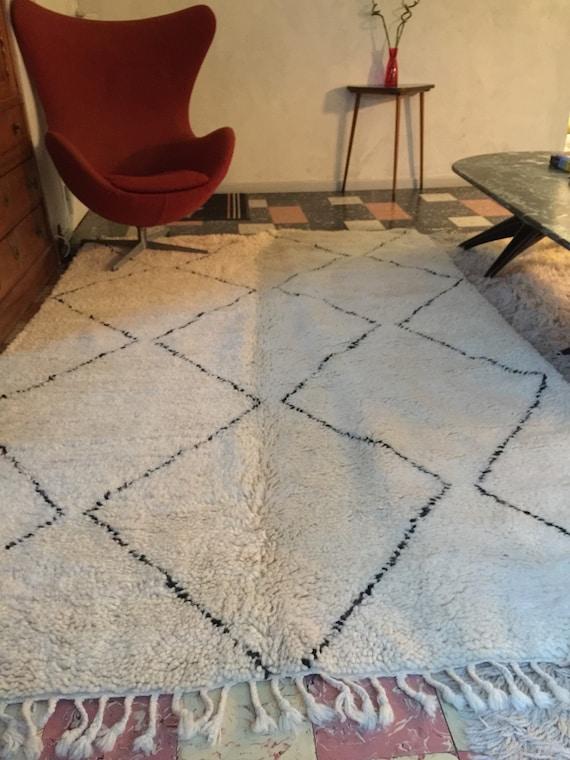 teppich beni chris marokkanischen handwerklichen wei e. Black Bedroom Furniture Sets. Home Design Ideas
