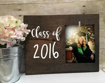 "Wood picture frame "" class of 2016"" graduation frame, graduation gift, Graduation class of 2016 gifts"