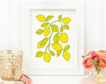 Lemon Art Print - Lemon No. 1 - 8x10 Print
